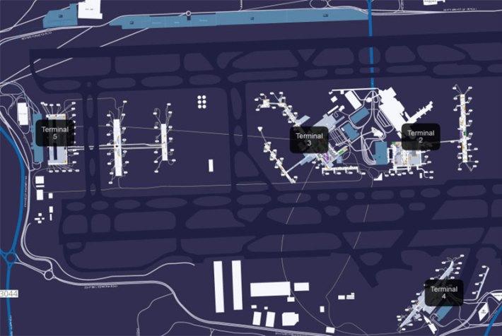 Heathrow repülőtér térképe