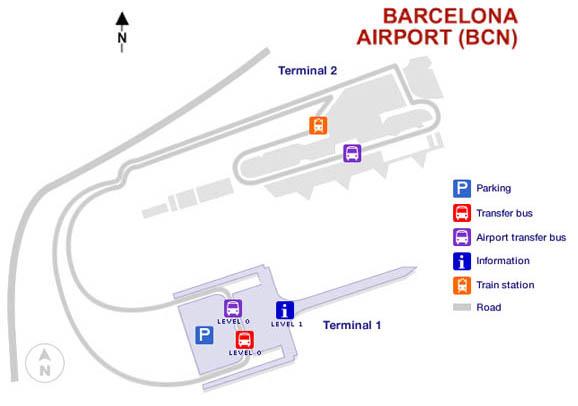 barcelona el prat térkép