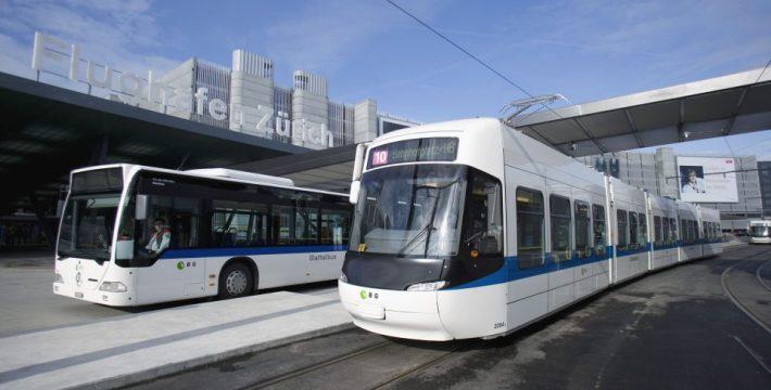 zürichi repülőtér busz