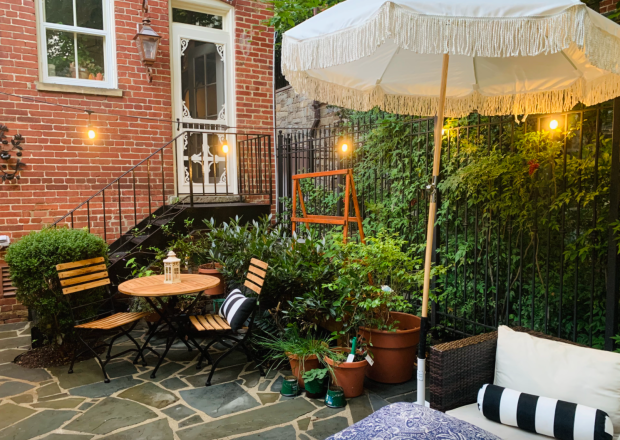 Garden apartment in Washington square heights
