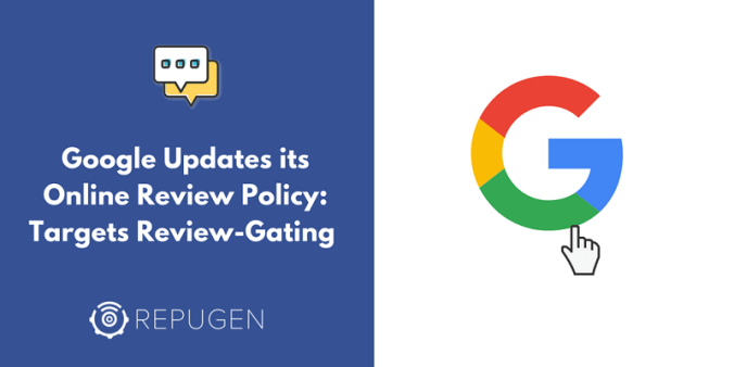 Google updates its online review policy