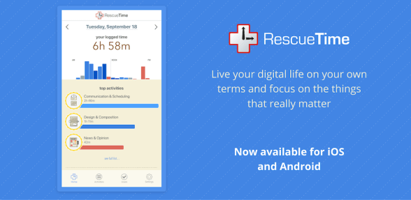 "Image result for rescuetime app"""