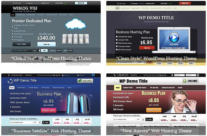 Free reseller hosting WordPress themes by ResellersPanel
