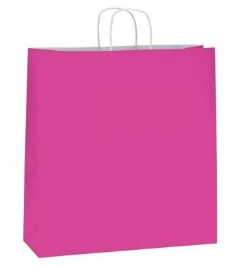 Bolsa de papel Asa Rizada Fucsia