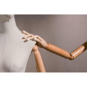 Brazos articulados mujer vintage madera natural