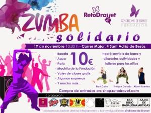 Zumba solidario Dravet en Sant Adrià de Besòs
