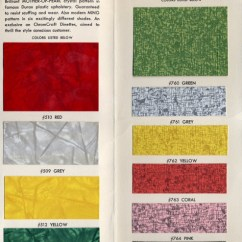 Chromcraft Chairs Vintage Chair Design Wing Vending Archives: 1950s Dinette Furniture Color Chart