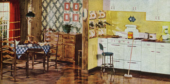 1940s Decorating Colors Fabrics Flooring Decor and more