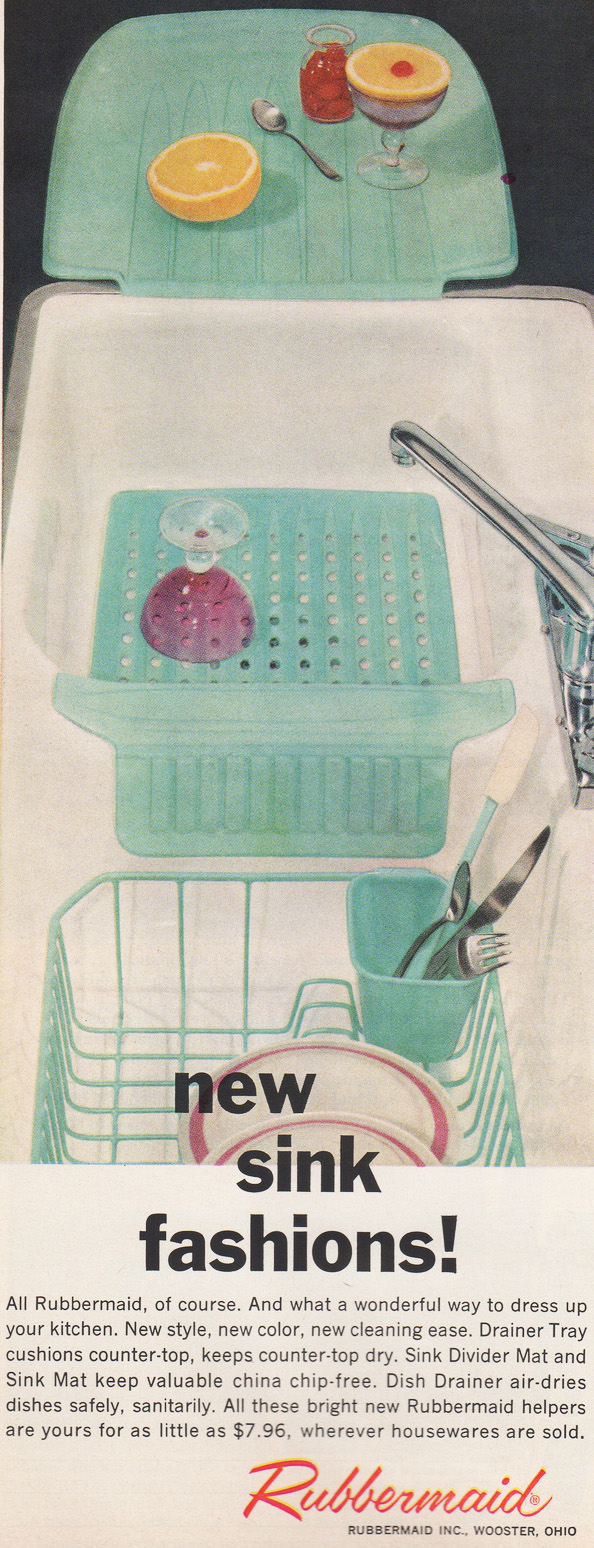 rubbermaid s new sink fashions 1950s