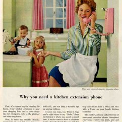 Kitchen Phone Retro Table Sets Life In The 1950s 1970s A Telephone Every Room Bell Ad For Extension