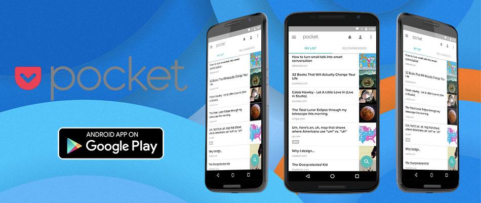 pocket - 15 melhores aplicações android grátis