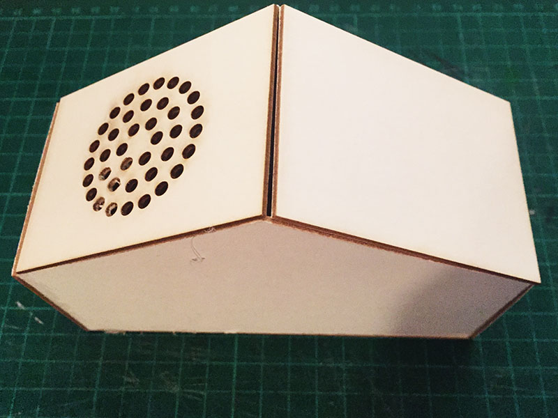 A message for Earth audio player – cardboard prototype (v2)