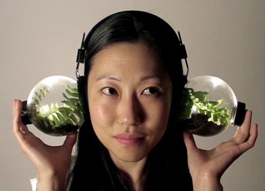 Human:Nature, 2010 Artist: Jill Haefele Description: custom-made headphones with crickets and natural materials