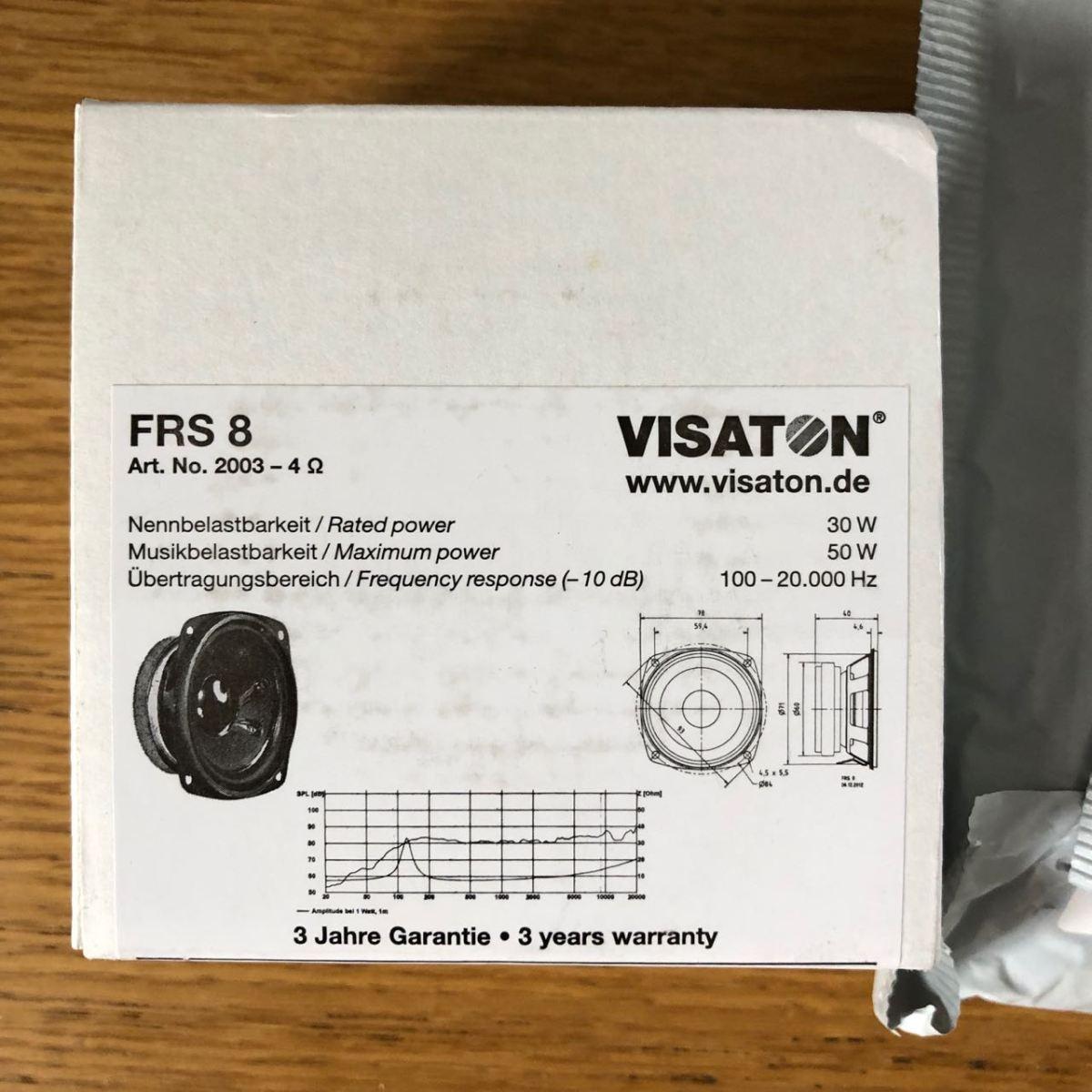 Visaton Round Cabinet Speaker, 30W nom, 50W max, 4Ω