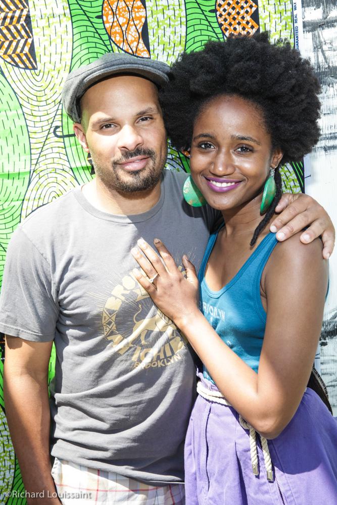 Percusiionist and rapper/ singer Okai and Jennica