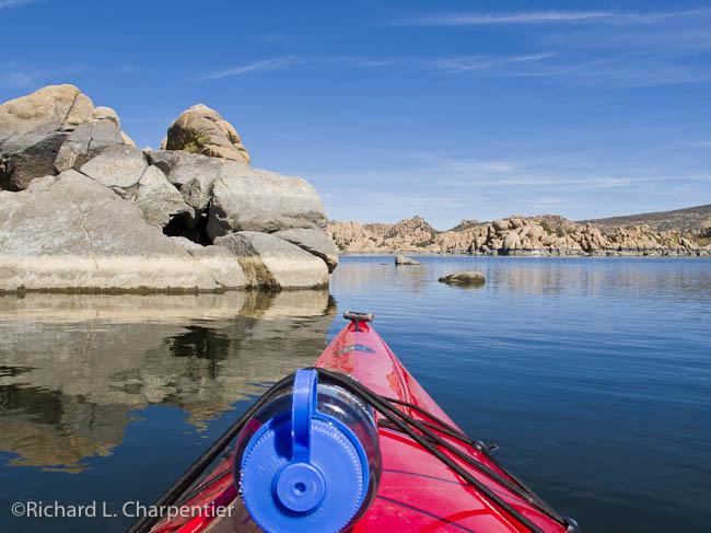 Watson Lake Park Kayaking among amazing granite rock formations