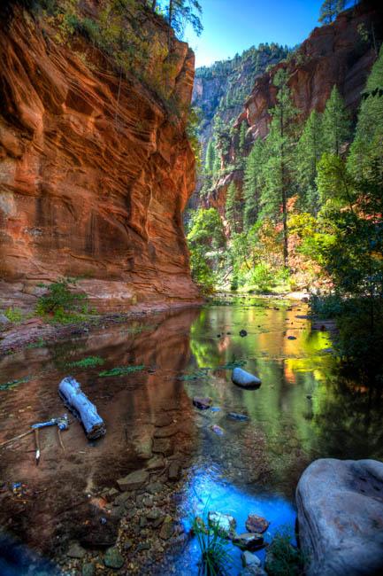 Oak Creek Canyon in the fall