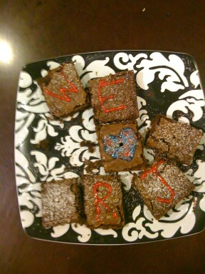 RJ lab brownies