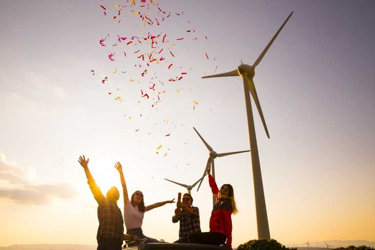 Ripple Graig Fatha members set to enjoy bumper electricity bill savings in wind farm's first year of operation