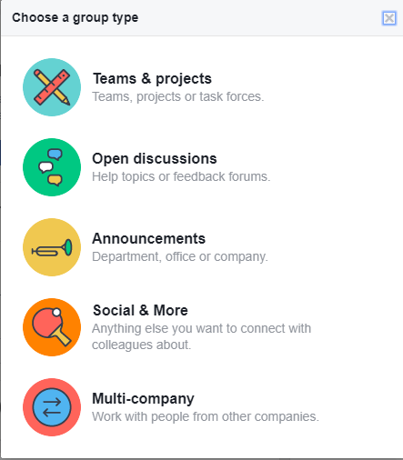 Facebook Workplace Groups