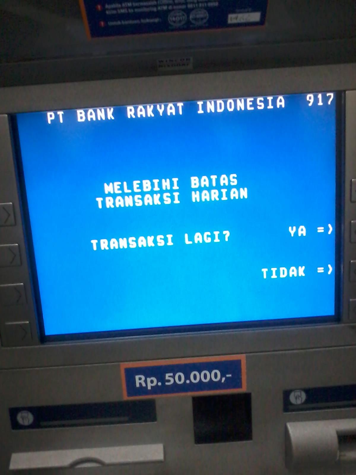 Batas Transaksi Harian Di Atm Adalah Rp 10 000 000 Blog Rivaekaputra Com