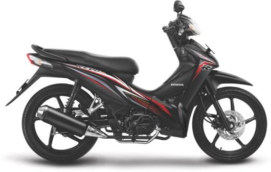 Honda Revo Cast Wheel warna Rapid Black