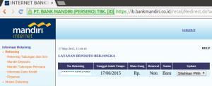 07 Buka Deposito melalui Internet Banking - Informasi Rekening