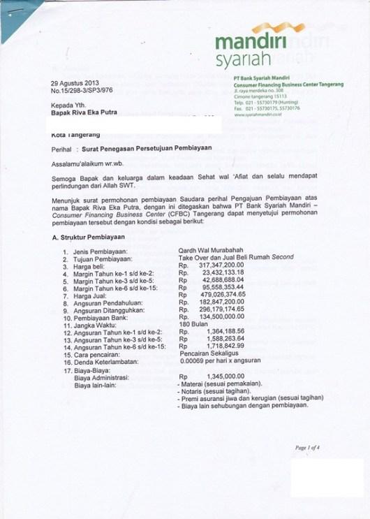 Contoh Sp3k Surat Penegasan Persetujuan Penyediaan Kredit