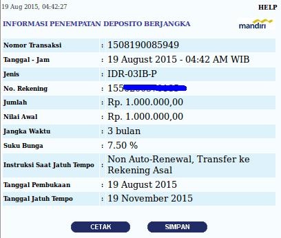 Pencairan Deposito Bank Mandiri Jangka Waktu 3 Bulan Belum Jatuh Tempo Blog Rivaekaputra Com