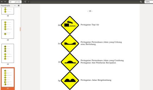 contoh 1 halaman rambu lalu lintas