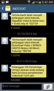 06 unreg 99517 sms dari Indosat