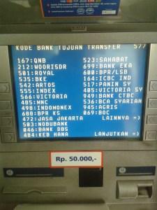 Daftar Kode Bank se Indonesia - layar atm hal 4