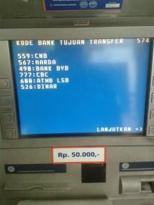 Daftar Kode Bank se Indonesia - layar atm hal 5