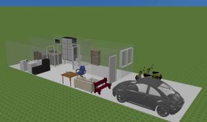 Cara membuat dinding agak Invisible di Sweet Home 3D 1
