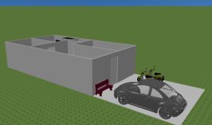 Cara membuat dinding agak Invisible di Sweet Home 3D 3