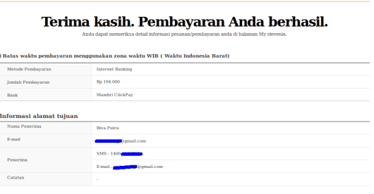 Mandiri ClickPay transaksi berhasil beli tokep PLN prabayar Screenshot from 2016-01-24 13:03:35