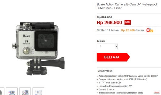 Action Cam 250rb-an