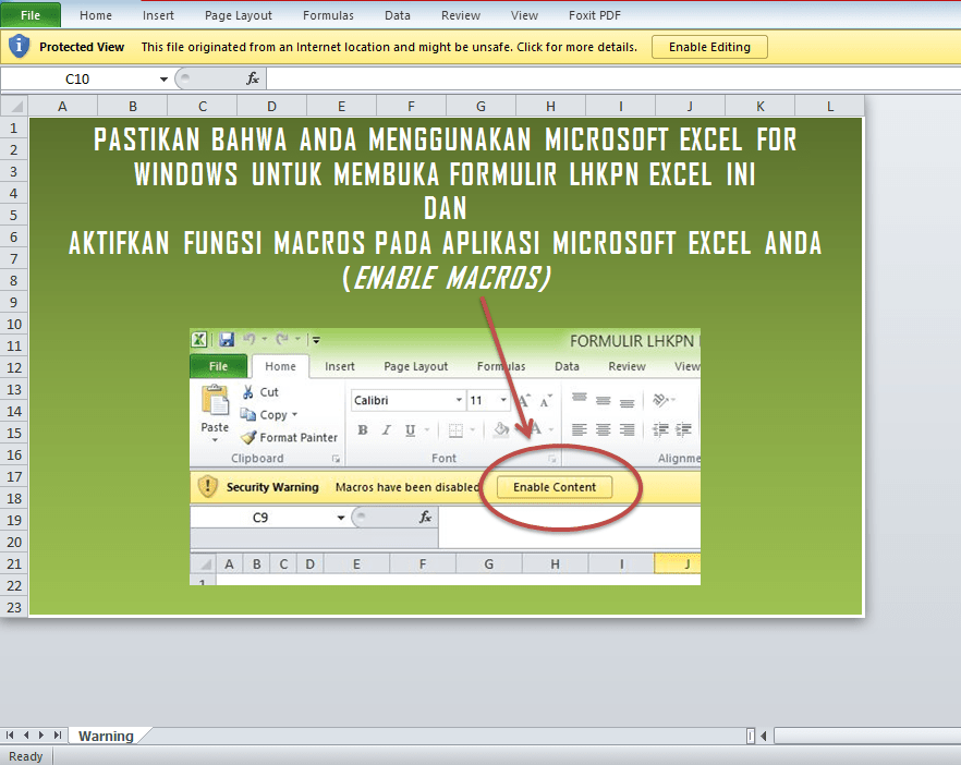 Cara Membuka File Excel Yang Macrosnya Disable Excel 2010 Blog Rivaekaputra Com