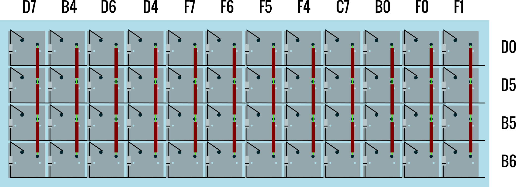 mechanical keyboard wiring diagram ford alternator how to hand wire a planck matrix with column and row labels