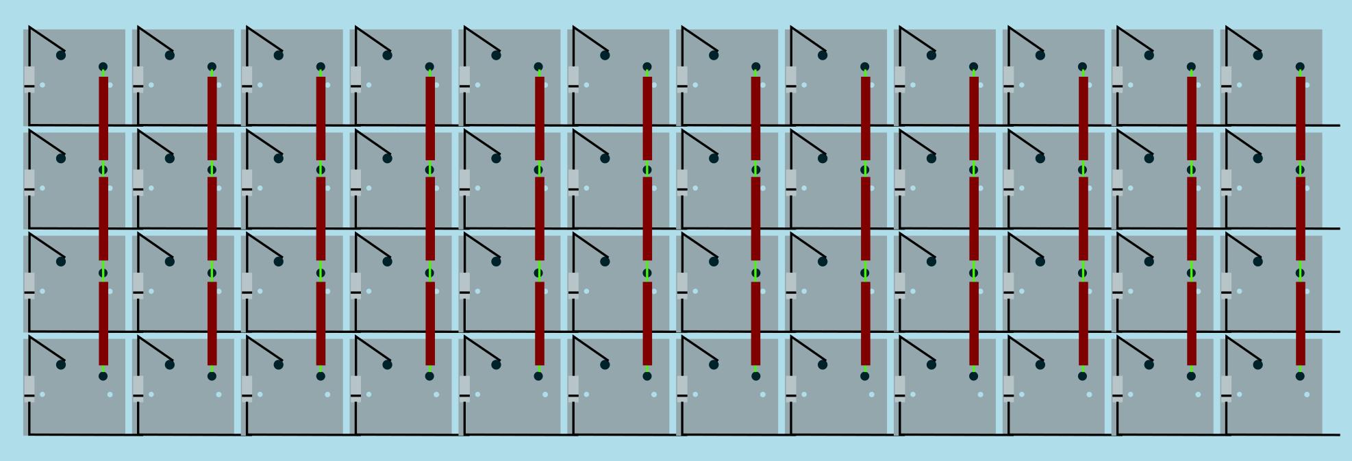 hight resolution of wiring columns