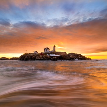 Nubble Lighthouse, York, Maine sunrise