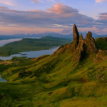 Sunrise at Old Man of Storr, Skye, Scotland