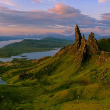 Sunrise at Old Man of Storr, Skye, Scotland