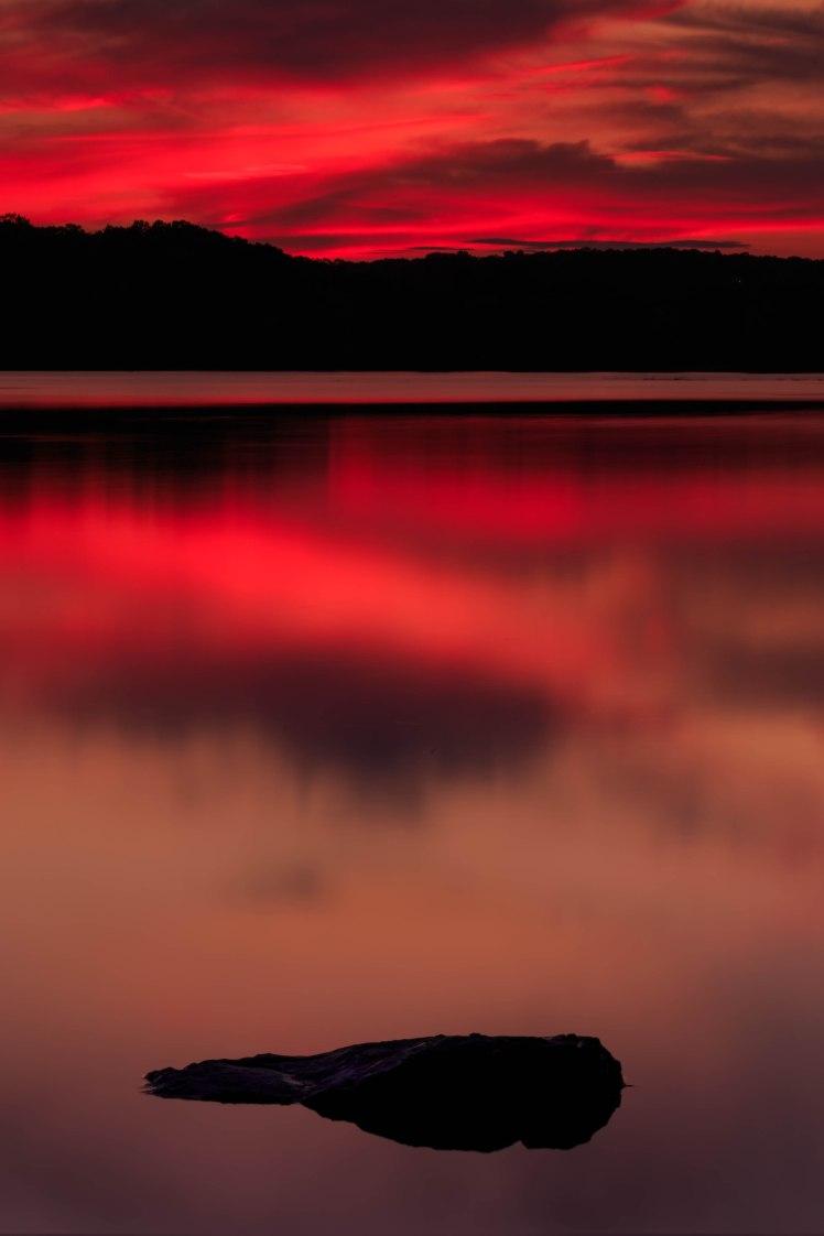 Sunset at Horn Pond, Woburn, Massachusetts