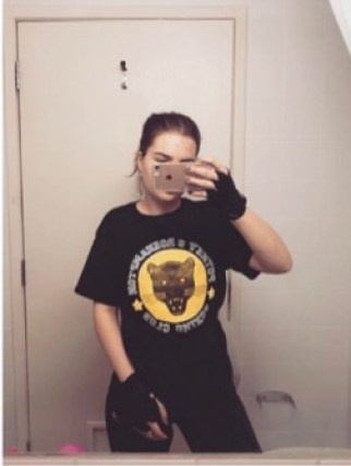 Megan Borrett taking a selfie