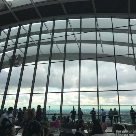 The high windows in the Sky Garden