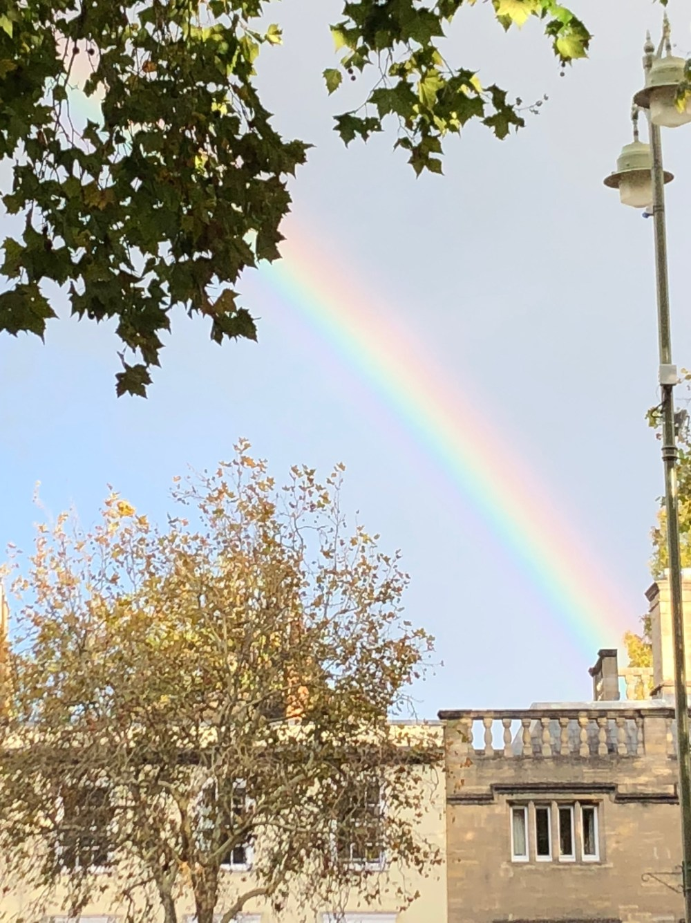A rainbow over Oxford – what does it mean?