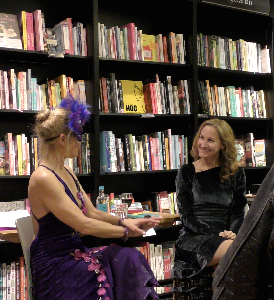 Dr Sarah Walton at a talk in a bookshop