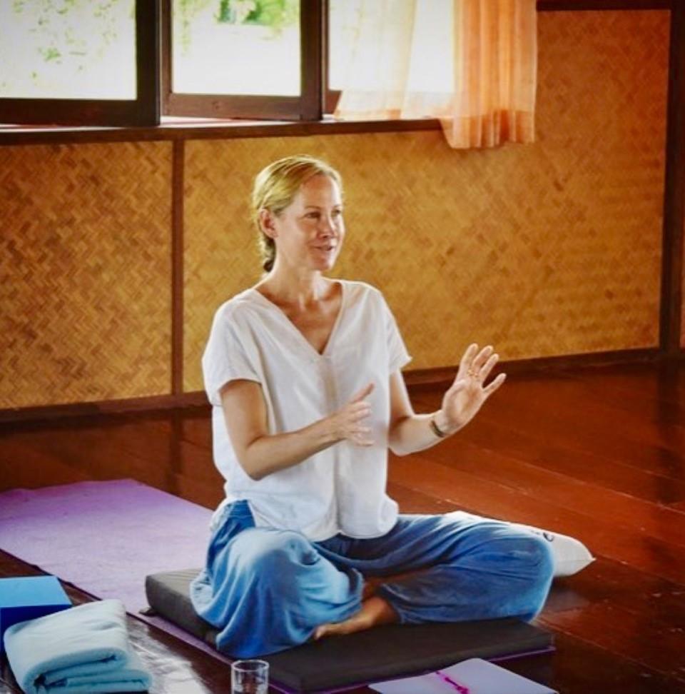Dr Walton teaching at a Soul Writing retreat