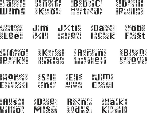 bnconf_2014_identity_speaker_names Фирменный стиль Чикагской конференции по корпоративной идентичности. Фирменный стиль Чикагской конференции по корпоративной идентичности. bnconf 2014 identity speaker names